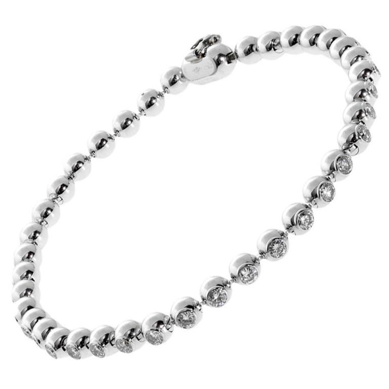 Cartier Diamond Gold Tennis Bracelet For Sale