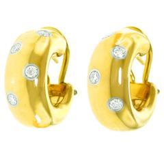 "Tiffany & Co. ""Etoile"" Diamond Gold Earrings"