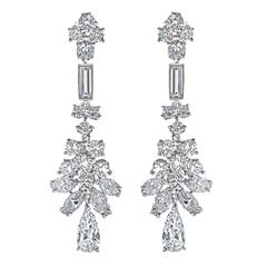 Diamond Platinum Fancy Earrings