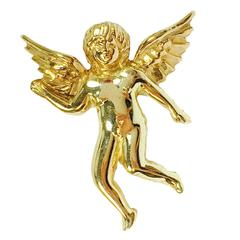 1950s Gold Angel Tie Pin