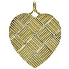 Tiffany & Co. Gorgeous Diamond Gold Heart Charm