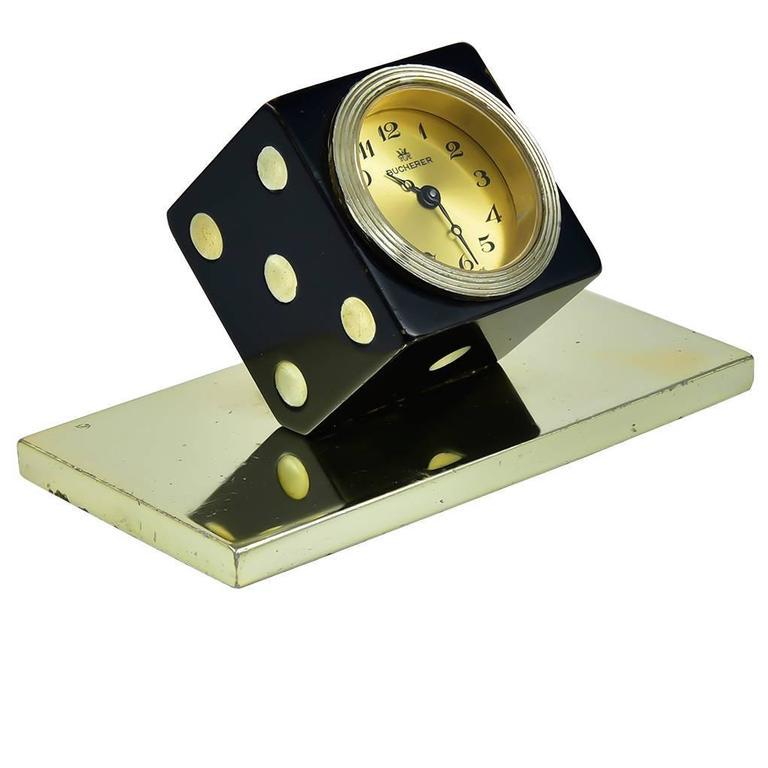 Bucherer Miniature Die Enamel Clock