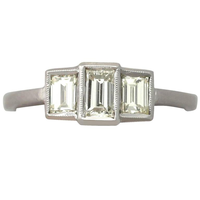1940s Diamond and White Gold Trilogy Ring