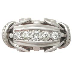 1940s Diamond and White Gold Cocktail Ring