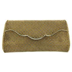 Bulgari Rare Two Color Woven Gold Evening Bag