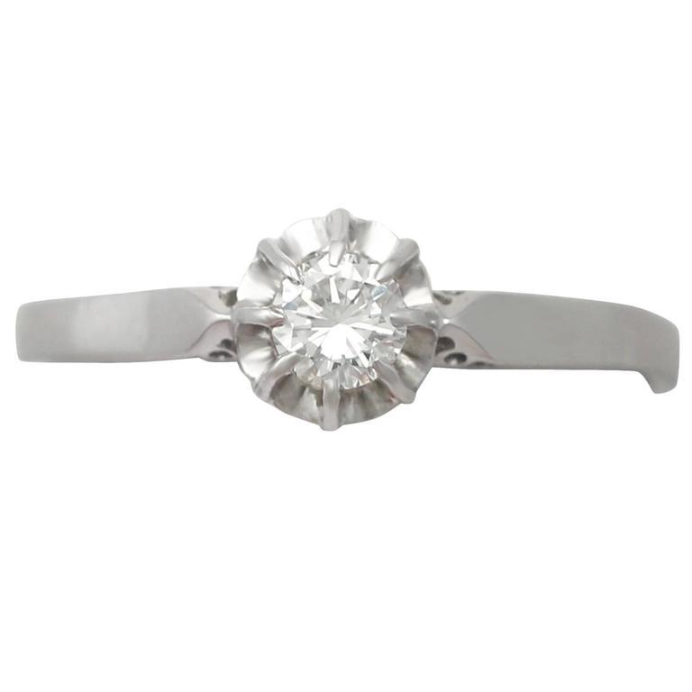 0.25 Carat Diamond and Platinum Solitaire Ring