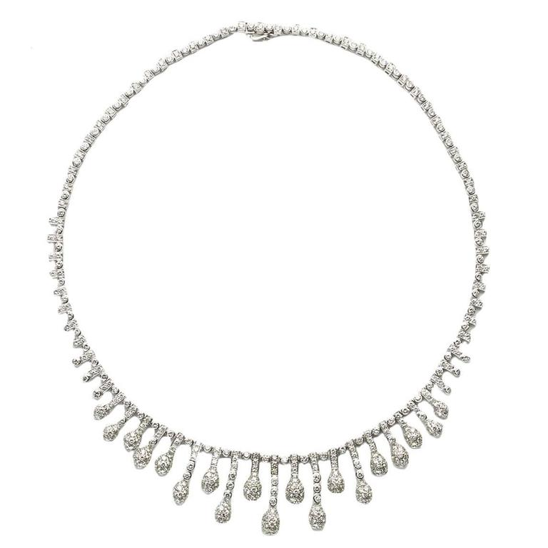 Diamond Gold Fringe Necklace 1