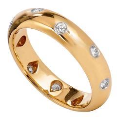 Tiffany & Co. Stunning Diamond Gold Etoile Band Ring