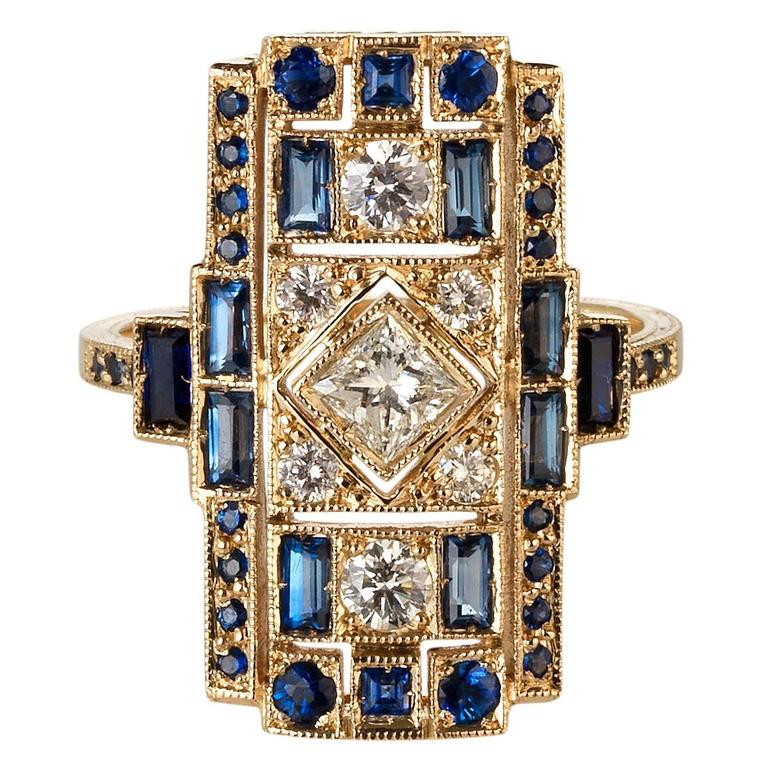 Sabine Getty Harlequin Sapphire Diamond Ring 1