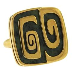 Bulgari Green Garnet Gold Ring