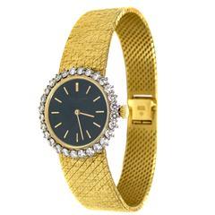 Vacheron & Constantin Ladies Yellow Gold Diamond Manual Wind Wristwatch