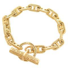 Hermes Chaine D' Ancre Gold Medium Link Bracelet