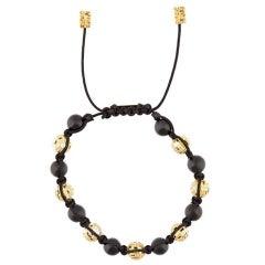 Blockchain Diamond & Gold Bead Bracelet