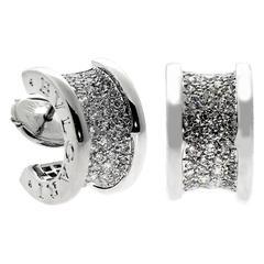 Bulgari Pave Diamond Gold B.Zero1 Earrings