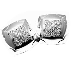 Bulgari Piramide Large Diamond Gold Earrings