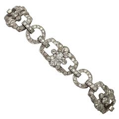 4.62ct Diamond and Platinum Bracelet - Art Deco - Antique Circa 1930