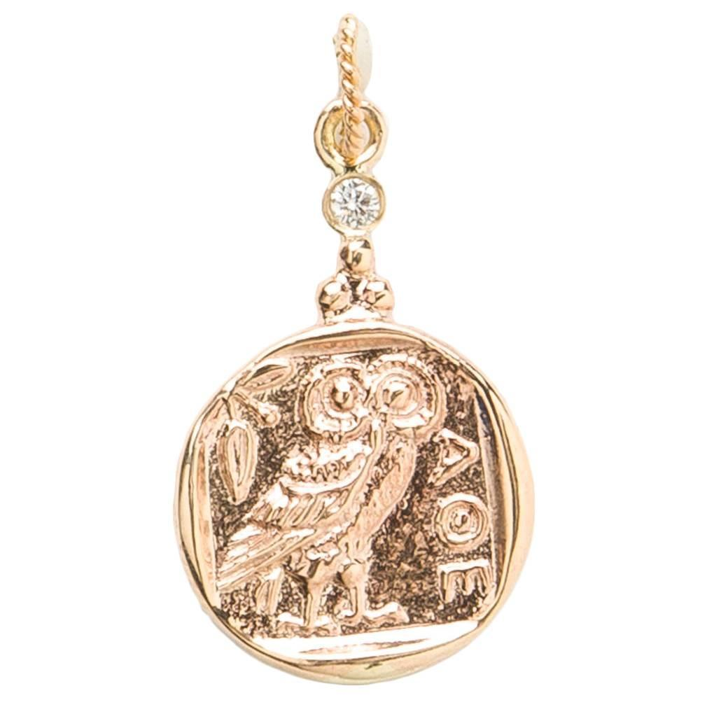 gold quot owl of athena quot pendant for sale at 1stdibs