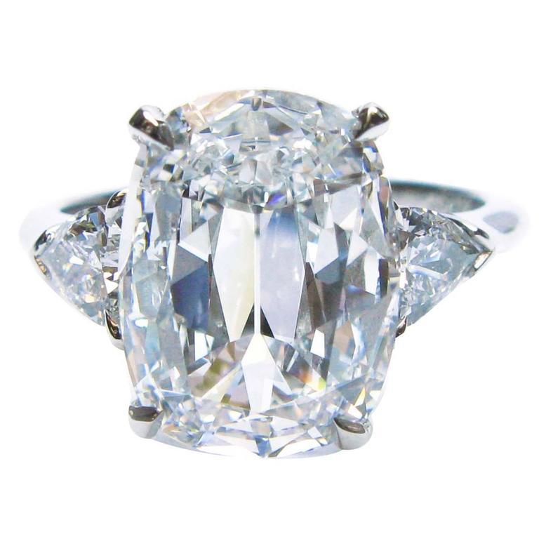4.04 Carat Cushion Brilliant Diamond Platinum Ring