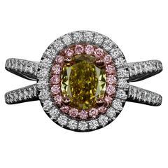 1.39 Carat Oval Diamond Ring