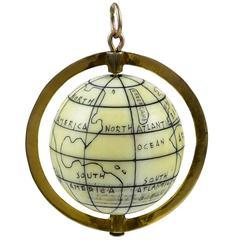 Great Gold Globe Charm