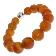 Natural Agate Bead Necklace