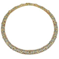 Bulgari Three Color Gold Necklace