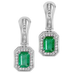 Alex Soldier Emerald Diamond Gold Earrings