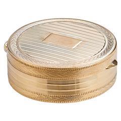 Precious Gold Pill Box Pendant