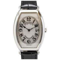 Patek Philippe Platinum Gondolo Chronometre Wristwatch Ref 5098P