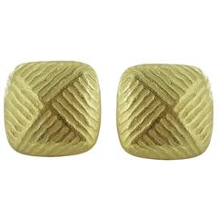 Gold Clip Earrings
