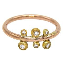 Diamond Two-Color Gold Ring