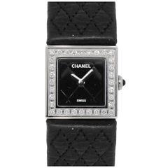 Chanel Ladies Stainless Steel Mademoiselle Diamond Bezel Quartz Wristwatch