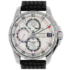 Chopard Stainless Steel Gran Turismo White Chronograph Dial Automatic Wristwatch