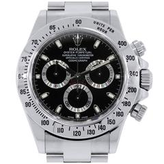 Rolex Stainless Steel Daytona Cosmograph Dial Automatic Wristwatch Ref 116520