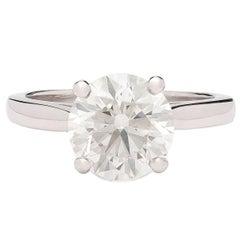 2.40 Carat GIA Certified Diamond Platinum Solitaire Engagement Ring