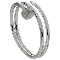 Cartier Juste Un Clou Double Row Diamond Gold Bangle Bracelet