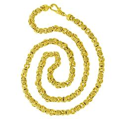 Chic and Heavy 27 Inch Gold Necklace