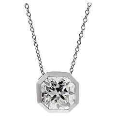 Tiffany & Co. 3.14 Carat Lucida Diamond Platinum Necklace