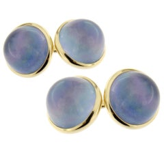 Jona Lapis Lazuli Quartz 18 Karat Yellow Gold Cuff Links