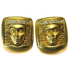 """Kieselstein-Cord Diamond """"Women of the World"""" Gold Earrings"""