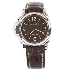 Panerai Luminor Stainless Steel Lefty Wristwatch Ref PAM 219