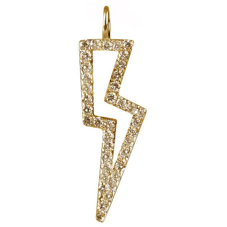 TPL Vermeil Diamond Lightning Bolt Charm