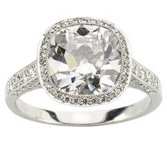 4.09 Carat GIA Cert Diamond Platinum Ring