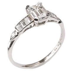 1.01 Carat GIA Cert Diamond Platinum Ring