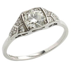 0.80 Carat Diamond Platinum Ring