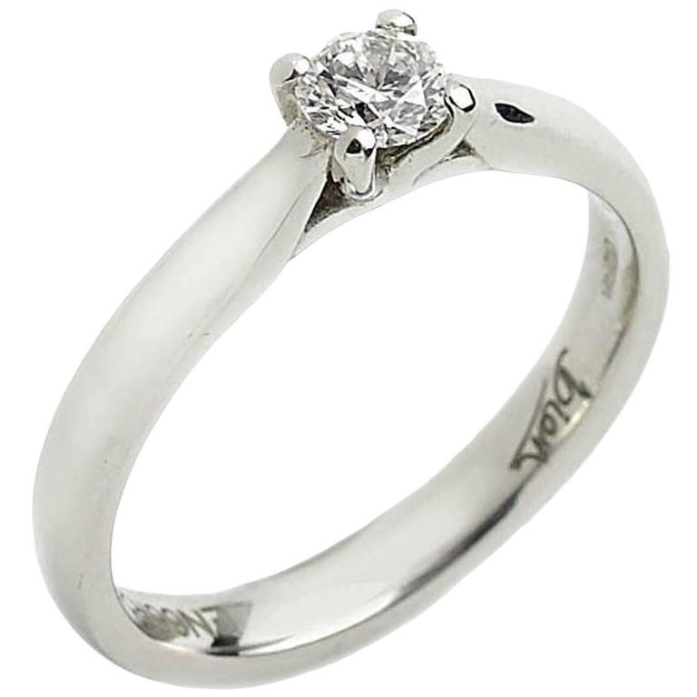25 Carat Diamond Platinum Solitaire Ring For Sale at 1stdibs
