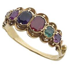 Victorian Gemstone Gold Regard Ring
