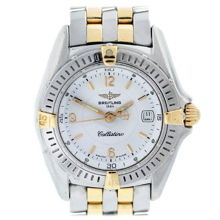Breitling Ladies Yellow Gold Stainless Steel Callistino Quartz Wristwatch