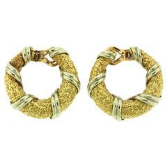 Van Cleef & Arpels Gold Hoop Earrings
