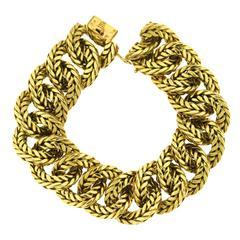 1970s Van Cleef & Arpels Gold Chain Link Bracelet